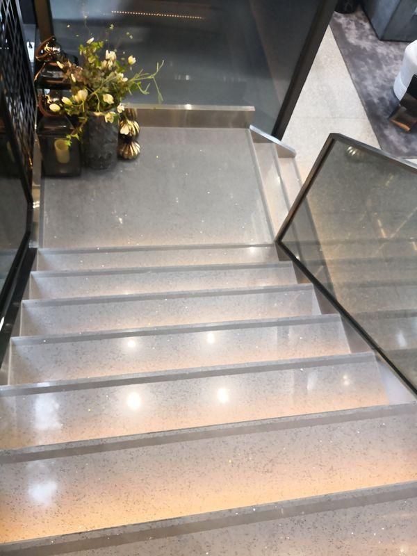 artificial white 9mm 600 x 600mm quartz floor tiles wall panel